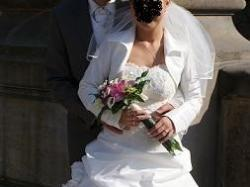 Suknia ślubna ecru. rozm.38