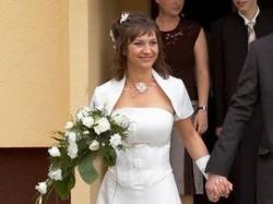 suknia ślubna, ecru, rozm. 40