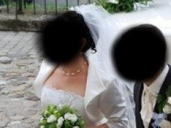 suknia ślubna ecru,rozm.44/176cm, Mariees de Paris,model FASIA