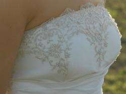 Suknia ślubna ecru rozm około 38