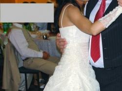 Suknia ślubna, ecru, rozmiar 36