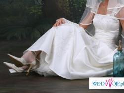 Suknia ślubna, ecru rozmiar 36