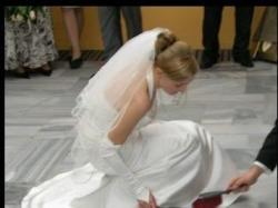 Suknia slubna ecru, rozmiar 36, ok 162 wzrostu, z trenem z salonu Urszula Mateja