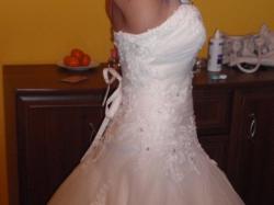 Suknia ślubna ecru z kolekcji MS Moda