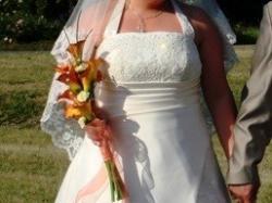 Suknia ślubna (ecrui) roz.46-50