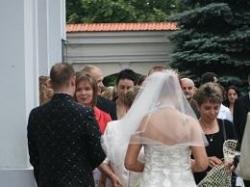 suknia ślubna, ekri