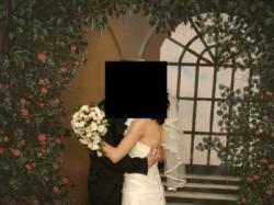 suknia ślubna ekri