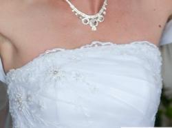 Suknia Ślubna Emilia z organtyny falbanki
