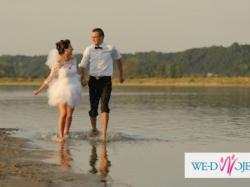SUKNIA ŚLUBNA EMMI MARIAGE +TREN, BOLERKO, WELON - RADOM