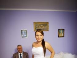 Suknia ślubna, falbany, rozmiar 38/40 z dodatkami