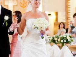 Suknia Ślubna FARAGE Paris z kamieniami SWAROVSKIEGO
