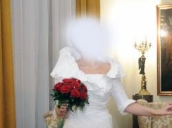 """suknia ślubna firmy """"AGORA""""."""
