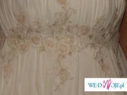 Suknia ślubna  firmy Biancaneve idelana rónież na ciążę