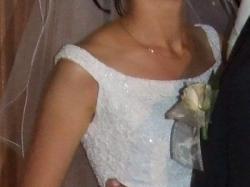 Suknia ślubna firmy CYMBELINE jednoczęsciowa, BIAŁA