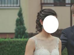 """Suknia ślubna firmy Nabla - model """"LUISE"""" plus halka Gratis, roz. 36/38"""