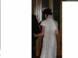 Suknia ślubna francuskiej firmy Herms r34/36 162+8cm obcas