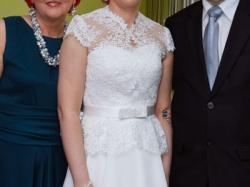 Suknia ślubna Gala Bianka Biała 38 Koronka Suknie ślubne