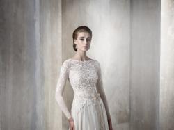 Suknia ślubna Gala Keira 2015 r. 44/46 na guziczki z długim rękawem écru