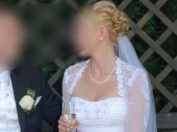 Suknia ślubna GANDI - Flossman S/M śnieżnobiała