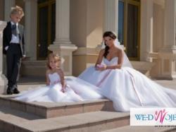 suknia ślubna Giovani typ prinsesa, tiul na trzech kołach
