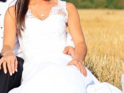 Suknia ślubna Glamour Luisa + welon+ bolerko-gratis buty ślubne!