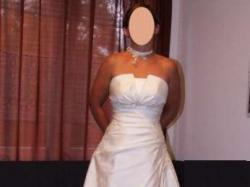 Suknia ślubna Gracja + bolerko + ozdoba na szyję