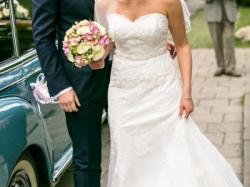 Suknia ślubna HERM'S BRIDAL 36/38 + halka koło JAK NOWA