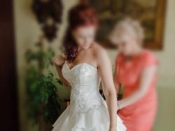 suknia ślubna, hiszpanka, ecru, 38-40-42