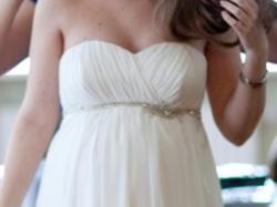 Suknia ślubna (idealna dla kobiety w ciąży)