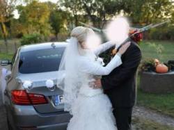 Suknia ślubna India 38 śmietankowa*** Hiszpanka KOMFORTOWA