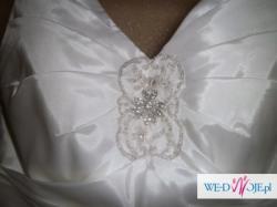 Suknia Ślubna jak Lisa Ferrera, rozm. 38-40, tafta jedwabna