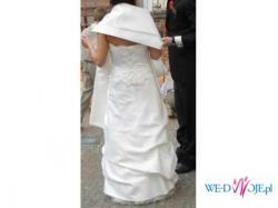 Suknia Ślubna jasne ecri 36/38 + gratisy!!!