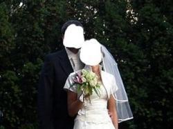 suknia ślubna - jasny ecru