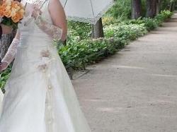 suknia ślubna jasny ecru