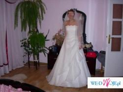Suknia ślubna jasny ecru rozmiar 38 Agora