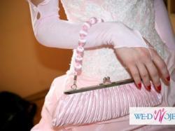Suknia Ślubna Jasny Róż Francja DODATKI