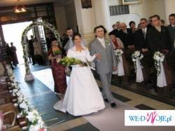 suknia slubna jednoczęściowa  biała TANIO!!