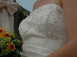 Suknia ślubna jednoczęściowa ecru
