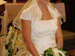 Suknia ślubna jednoczęsciowa ecru rozm.36-38/165cm
