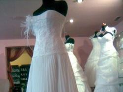 Suknia slubna jednoczęsciowa PLISOWANA
