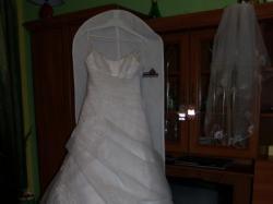 Suknia ślubna jednoczęściowa, śnieżnobiała!Zobacz bo warto!!!