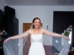 Suknia ślubna JULIA ROSA 836 ecru 38 + długi welon gratis