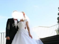 Suknia ślubna Justin Alexander model 8483, kolor biały, rozmiar 36/38