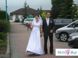 Suknia ślubna klasyczna, Biała, Idealna, Przymiarka