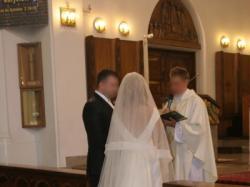 Suknia ślubna klasyczna dekolt łódka  i welon pronovias !!!
