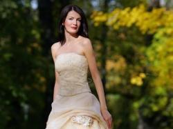 Suknia Slubna kolor Brzoskwiniowo-zloty
