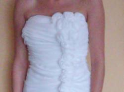 Suknia ślubna kolor Ecri 36 s rozm. piękna