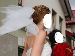 Suknia ślubna kolor ECRU rozmiar 38