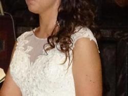 Suknia Ślubna kolor ivory rozmiar 38