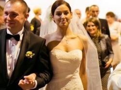 suknia ślubna, korokowa rybka, firmy La Sposa , model Dagen